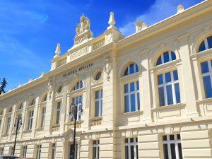Rekonstruované budovy ředitelství zřídel Bílina.