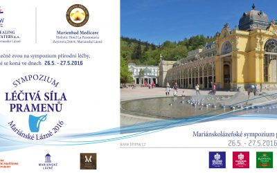 Lékařské sympozium LÉČIVÁ SÍLA PRAMENŮ Mariánské Lázně 2016